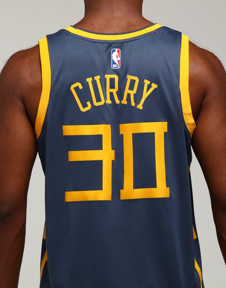 e49cfa745dc1 Nike Golden State Warriors Stephen Curry  30 City Edition Swingman NBA  Jersey Blue