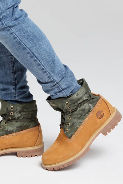 "Timberland 6"" Premium Roll Top Boot Wheat"