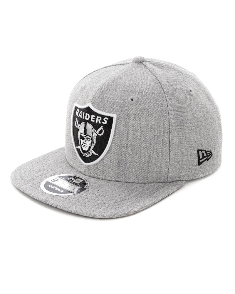 New Era Raiders 9FIFTY Original Fit Snapback Heather Grey