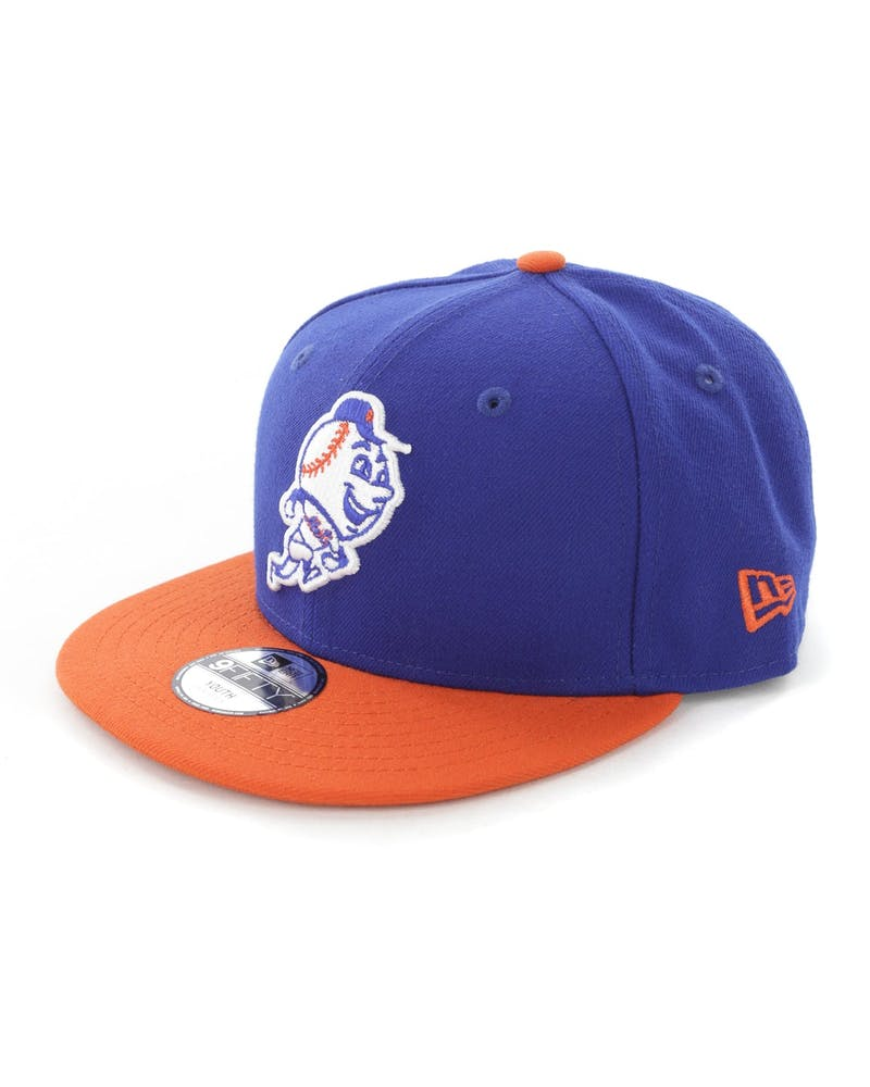 New Era Youth New York Mets 9FIFTY Snapback Royal/Orange