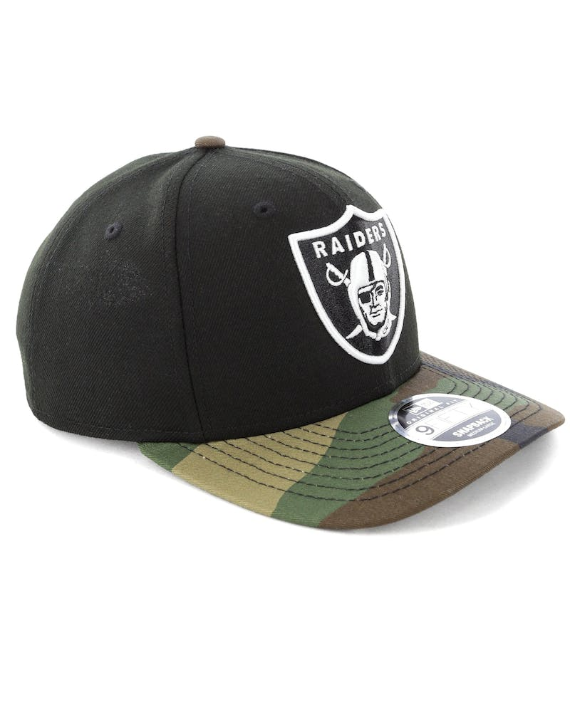 New Era Raiders 9FIFTY Original Fit Precurve Snapback Black Camo