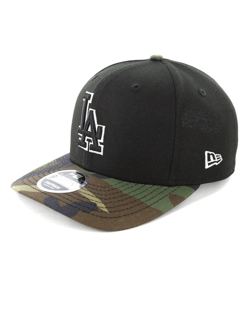 New Era Los Angeles Dodgers 9FIFTY Original Fit Precurve Snapback Black Camo