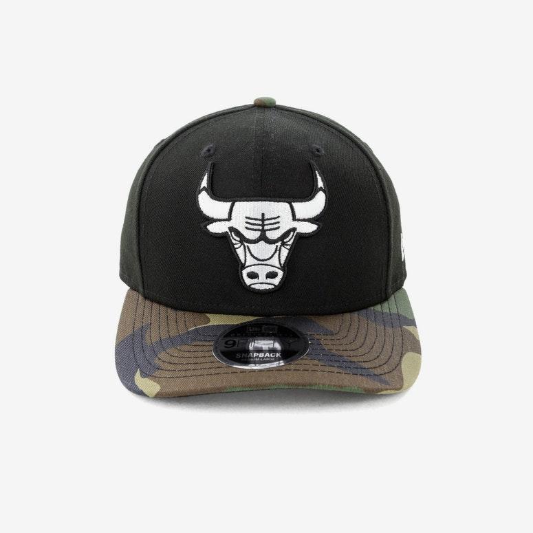 f04f248629d New Era Chicago Bulls 9FIFTY Original Fit Precurve Snapback Black Camo