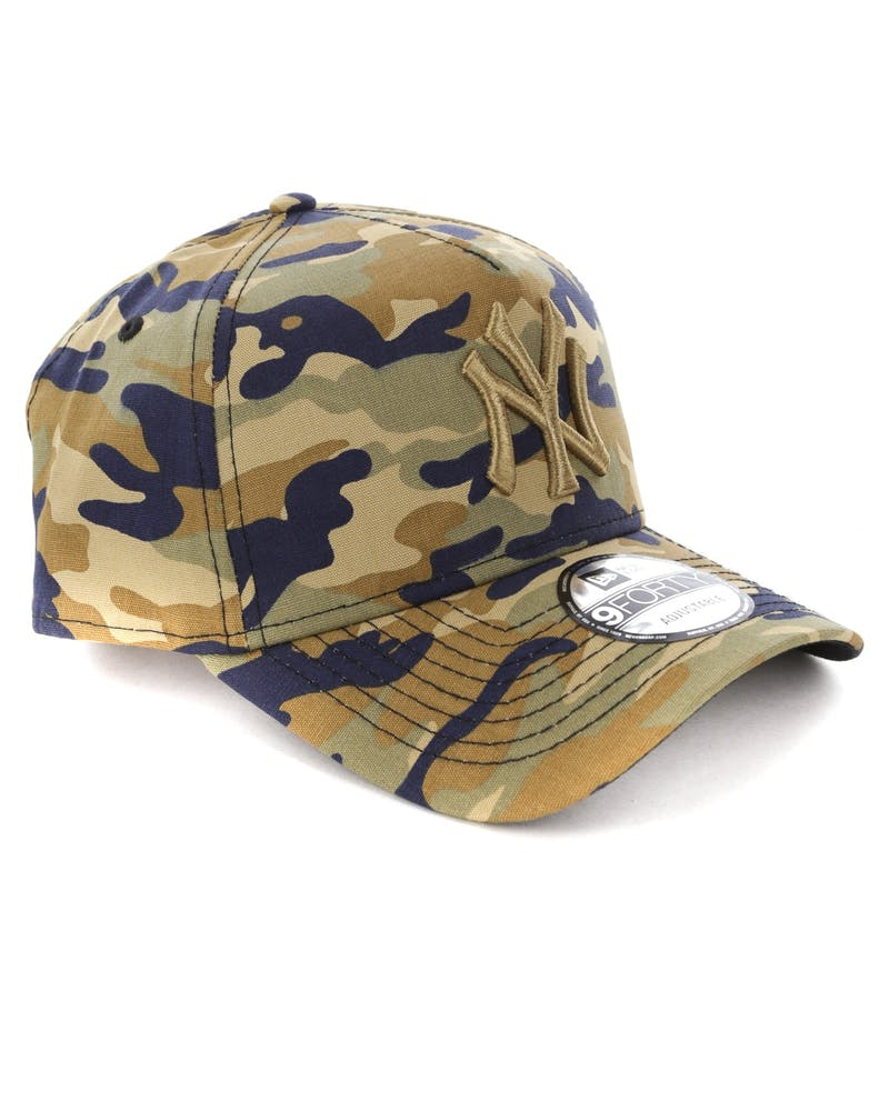 New Era New York Yankees 9FORTY A-Frame Snapback Camo/Multi