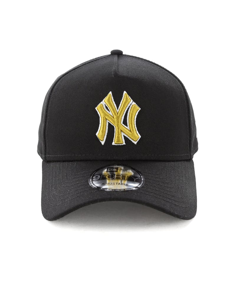 New Era New York Yankees 9FORTY A-Frame Snapback Black/Gold