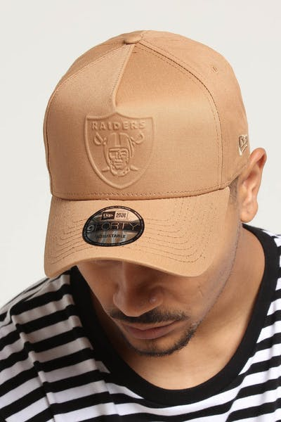 New Era Oakland Raiders Emboss 9FORTY A-Frame Snapback Wheat