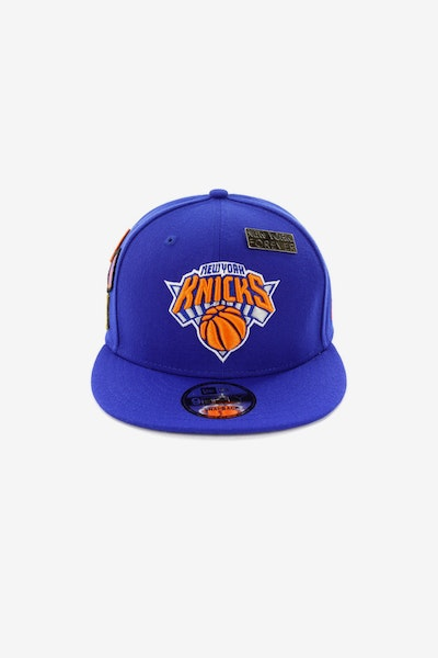New Era Knicks 950 OTC Draft Snapback Royal/Orange