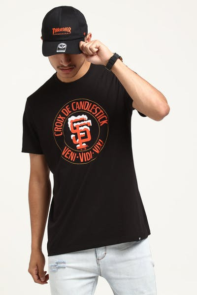Thrasher 47 Splitter Candlestick Tee Black/Orange