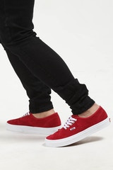 VANS AUTHENTIC PIG SUEDE RED/WHITE