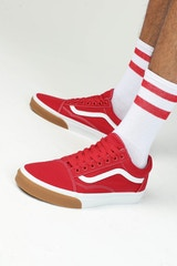 VANS OLD SKOOL (GUM BUMPER) RED/WHITE/GUM