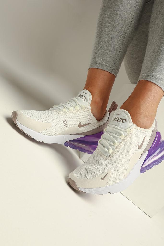 Nike Air Max 270 Sneakers SailPumiceSpace PurpleWhite
