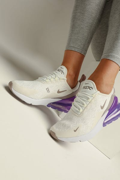 new arrival f3533 23be4 Nike Women s Air Max 270 Sail Space Purple