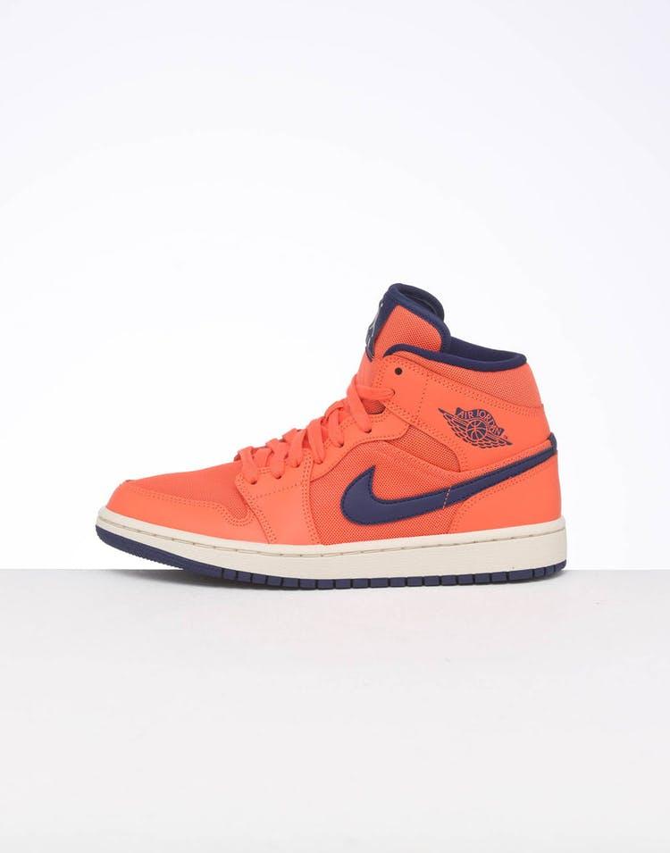 jak kupić tani najlepszy dostawca Jordan Women's Air Jordan 1 Mid Orange/Blue/Cream