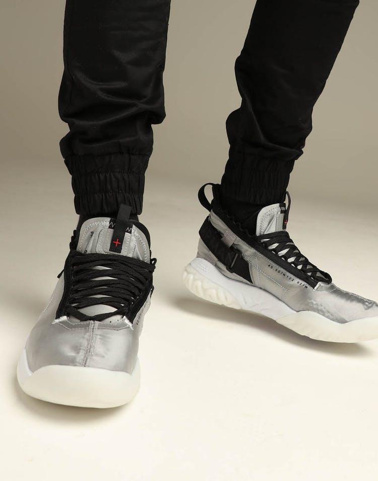 premium selection ecf27 5c412 Jordan Proto-React Silver Black