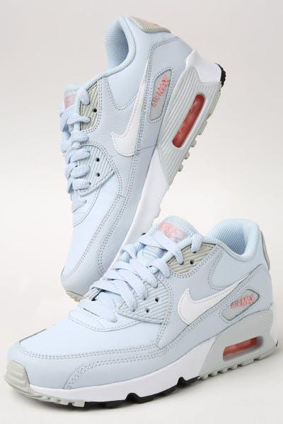 1ddfcfa9c544 Nike Kids Air Max 90 Leather (GS) Half Blue White