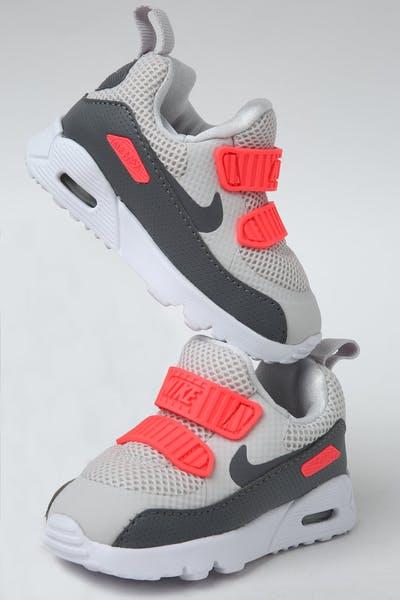 1a0a75faa1eb Nike Toddler Air Max Tiny 90 (TD) Grey Crimson White