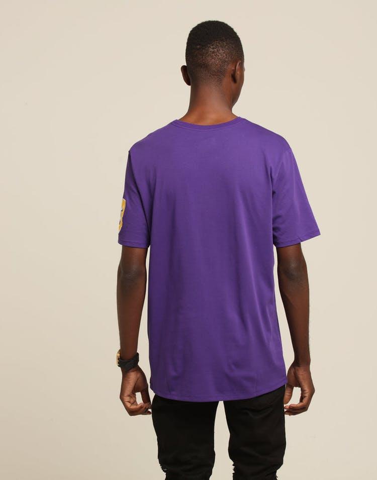 51ef5b069e93 Nike Los Angeles Lakers LeBron James  23 Dri Fit Tee Purple ...