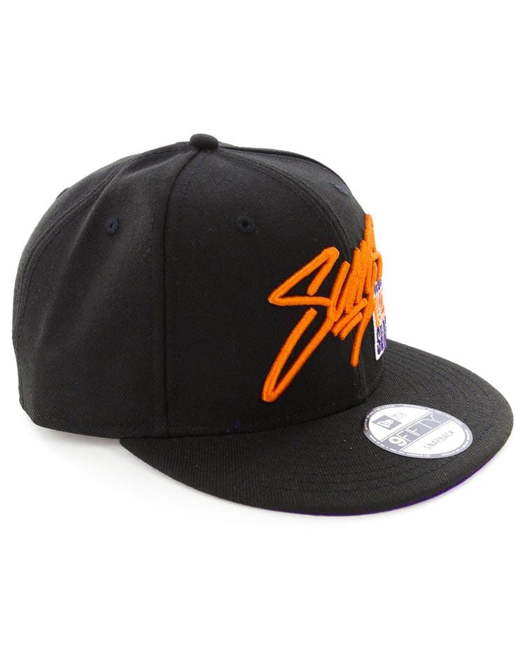 quality design 8b96f fe557 New Era Phoenix Suns 9FIFTY Snapback Black
