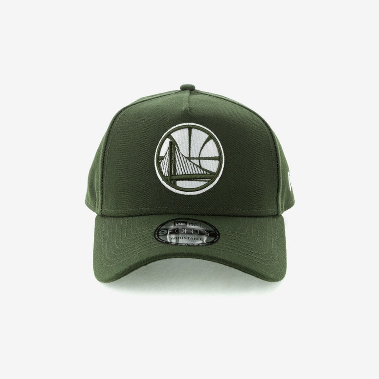 New Era Golden State Warriors 9forty A Frame Snapback Seaweed