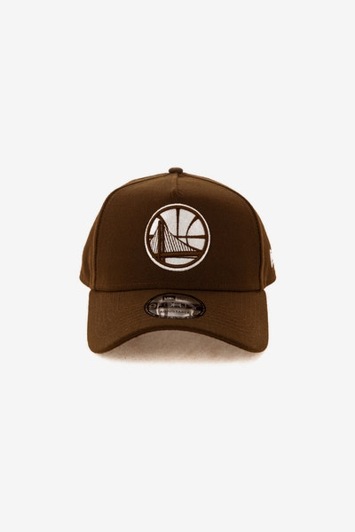 New Era Golden State Warriors 940 A-Frame Snapback Chocolate