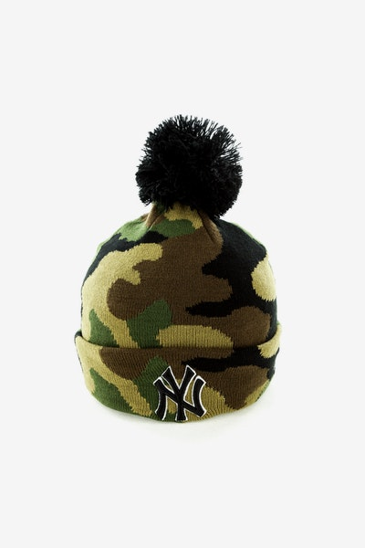 New Era New York Yankees Pom Knit Beanie Camo