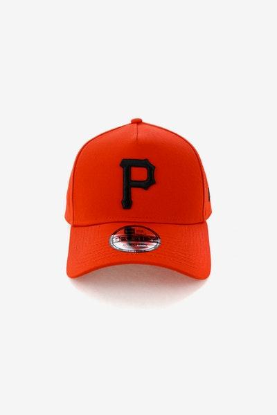 b071f375405 New Era Pittsburgh Pirates 9FORTY A-Frame Snapback Cherry Black