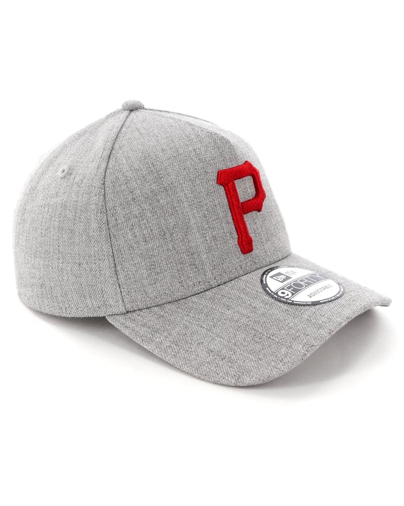 New Era Pittsburgh Pirates 9FORTY A-Frame Snapback Heather Grey/Red