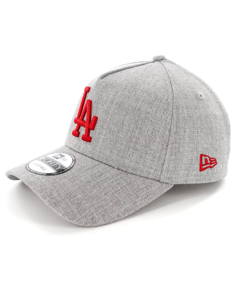 New Era Los Angeles Dodgers 9FORTY A-Frame Snapback Heather Grey/Red