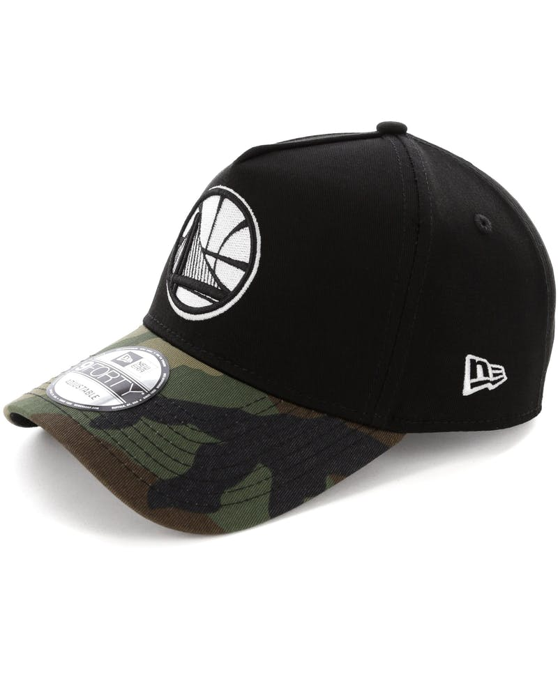 New Era Golden State Warriors 2 Tone 9FORTY A-Frame Snapback Black/Camo
