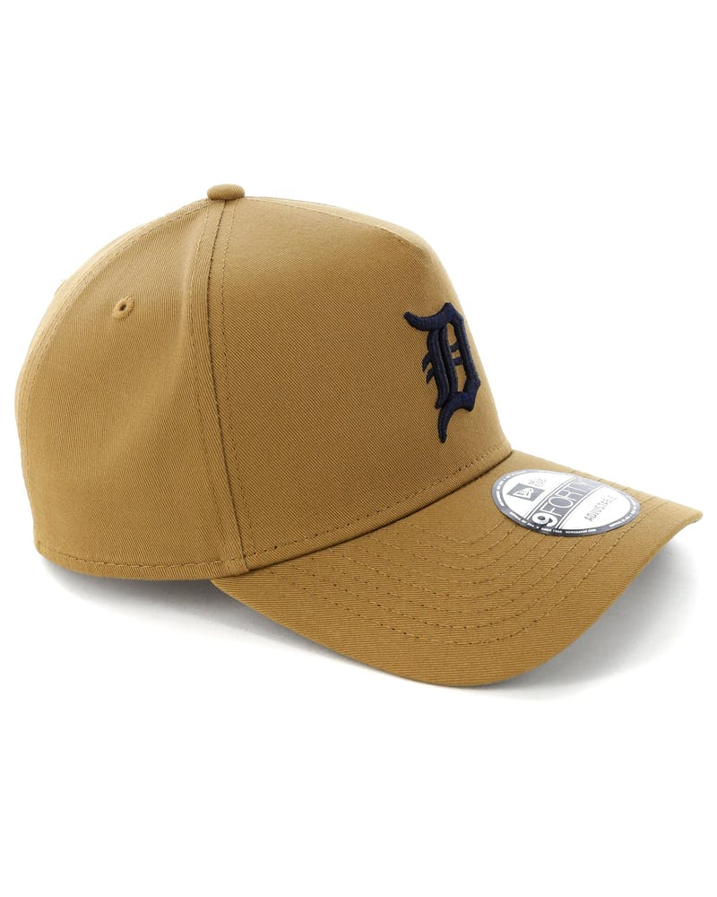 New Era Detroit Tigers 9FORTY A-Frame Navy UV Snapback Wheat