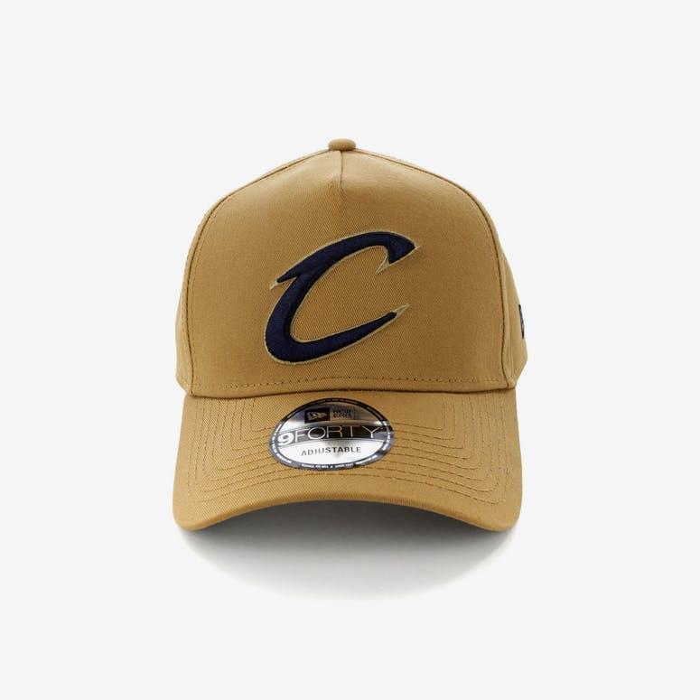 299e03e30a3 New Era Cleveland Cavaliers 9FORTY A-Frame Navy UV Snapback Wheat ...