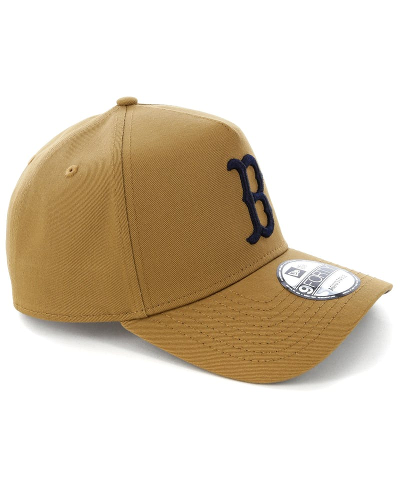 New Era Boston Red Sox 9FORTY A-Frame Navy UV Snapback Wheat