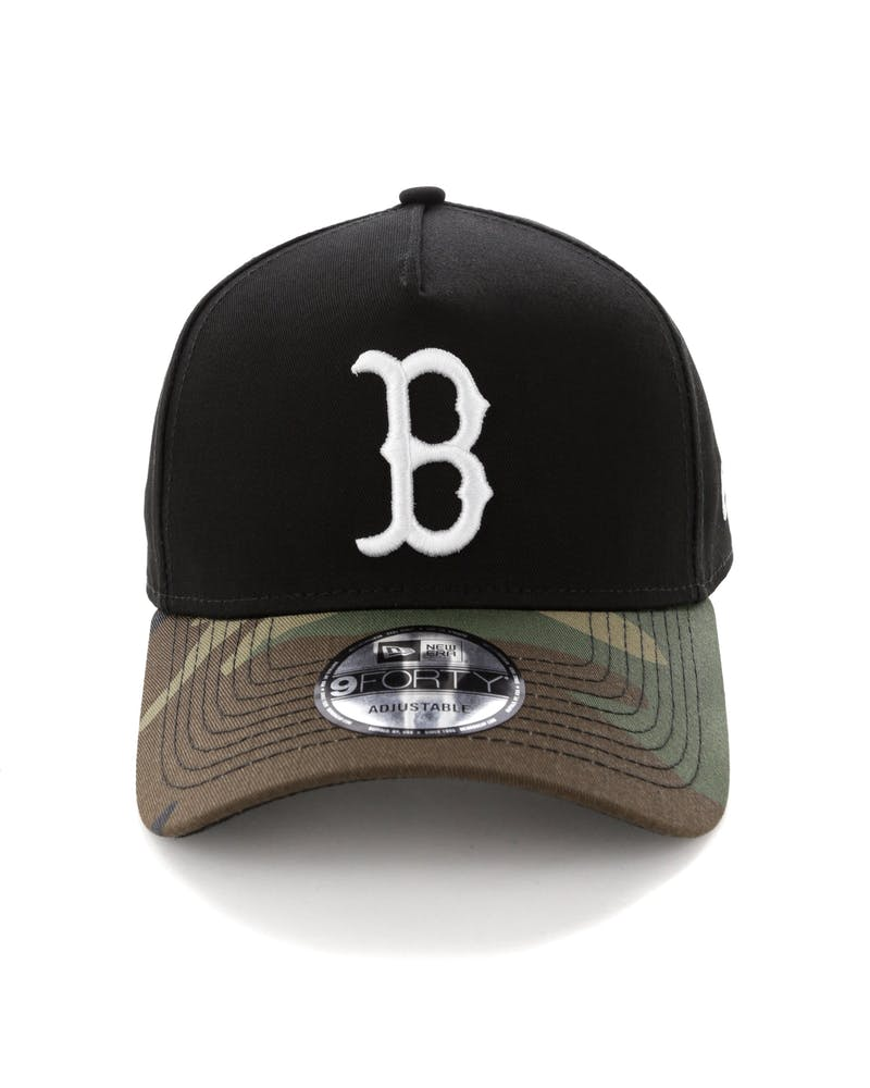 New Era Boston Red Sox 2 Tone 9FORTY A-Frame Snapback Black/Camo