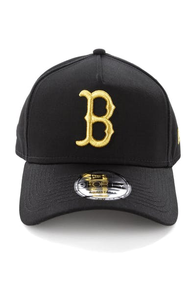 half off 8e9a3 b01e2 New Era Boston Red Sox 9FORTY A-Frame Snapback Black Gold ...