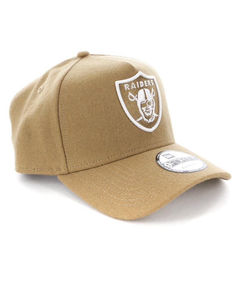 New Era Raiders 9FORTY A-Frame Melton Snapback Camel