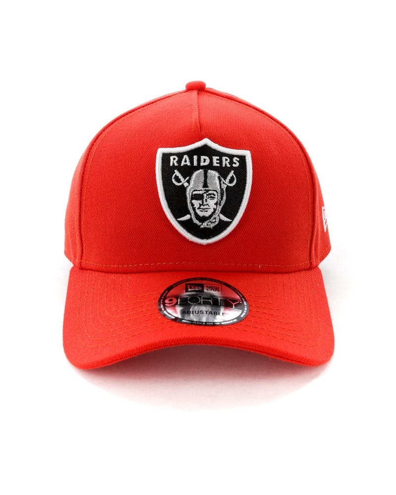 New Era Raiders 9FORTY A-Frame Snapback Hot Red
