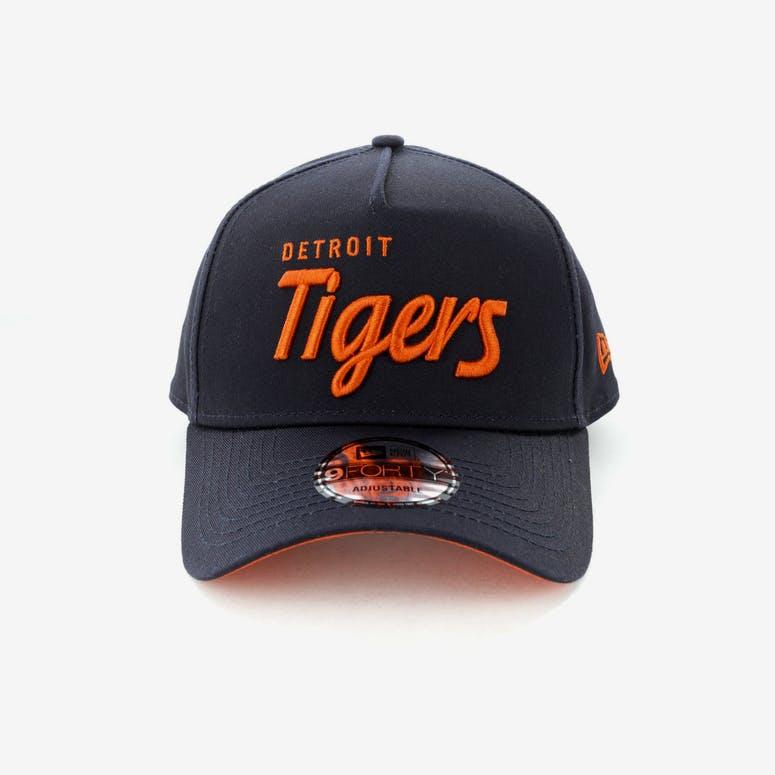 7514e4fd6cd New Era Detroit Tigers Script 9FORTY A-Frame Snapback Navy Orange