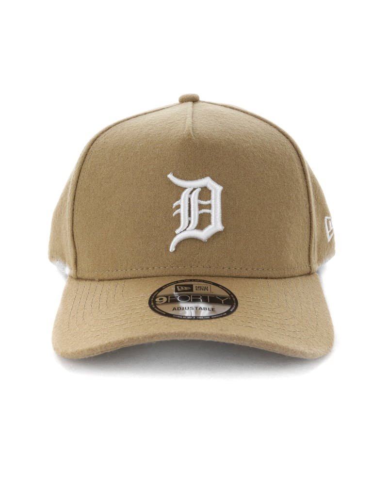 New Era Detroit Tigers 9FORTY A-Frame Melton Snapback Camel