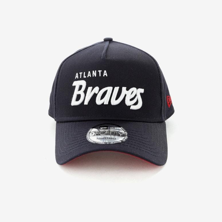 New Era Atlanta Braves Script CK 940 A-Frame Snapback Navy/White ...
