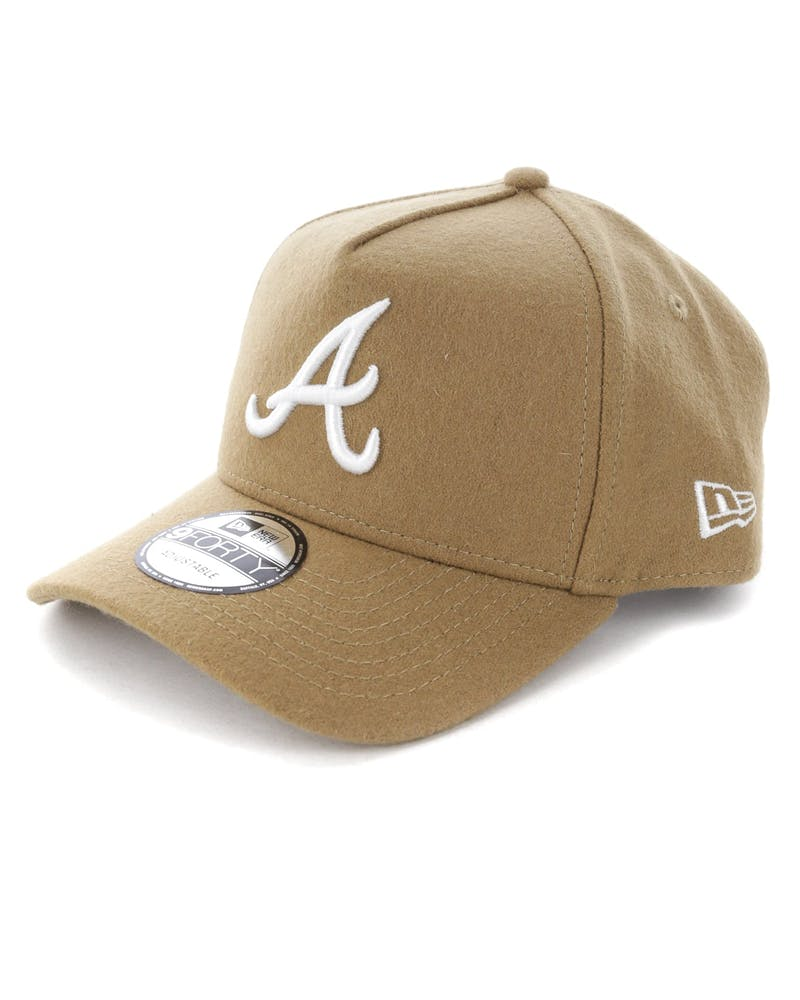 New Era Atlanta Braves 9FORTY A-Frame Melton Snapback Camel
