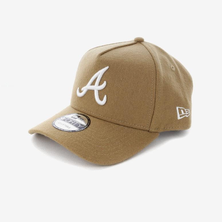New Era Atlanta Braves CK 940 A-Frame Melton Snapback Camel ...