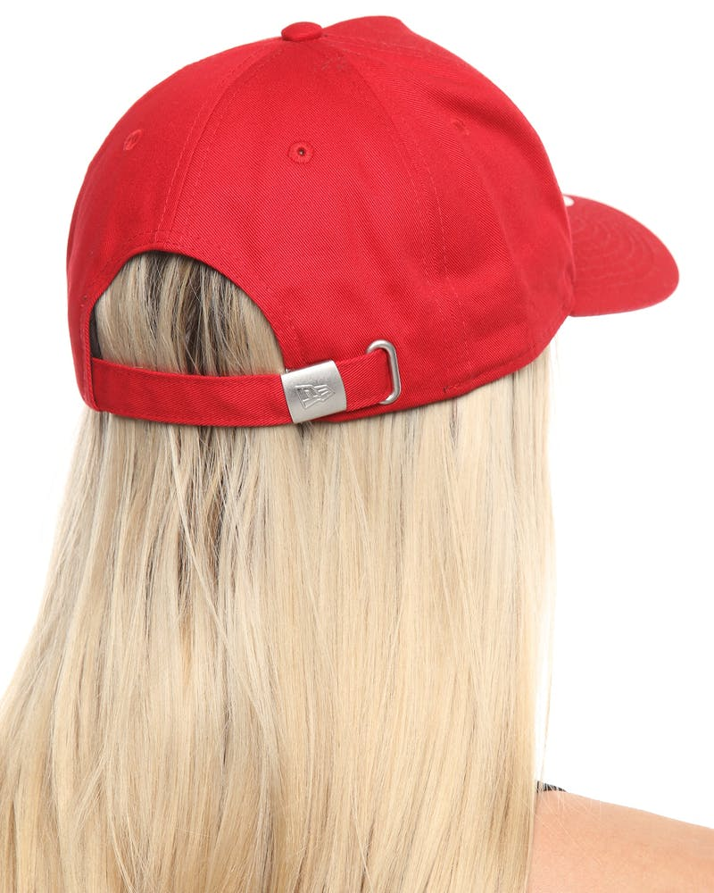 New Era Women's New York Yankees 9FORTY A-Frame Strapback Scarlet/White