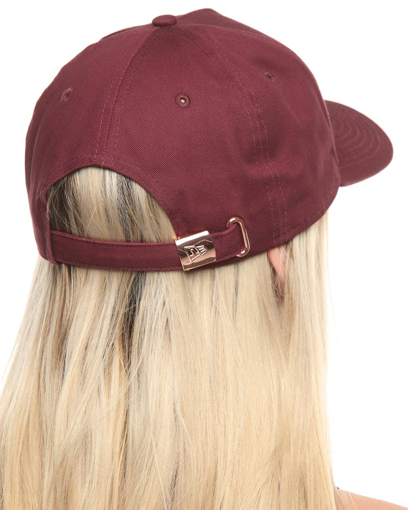 New Era Women's Chicago White Sox 9FORTY A-Frame Strapback Maroon/Rose Gold