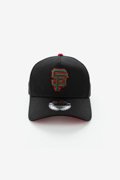 New Era San Francisco Giants 940 A-Frame Snapback Black/Green/Red