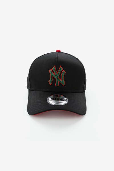 New Era New York Yankees 940 A-Frame Snapback Black/Green/Red