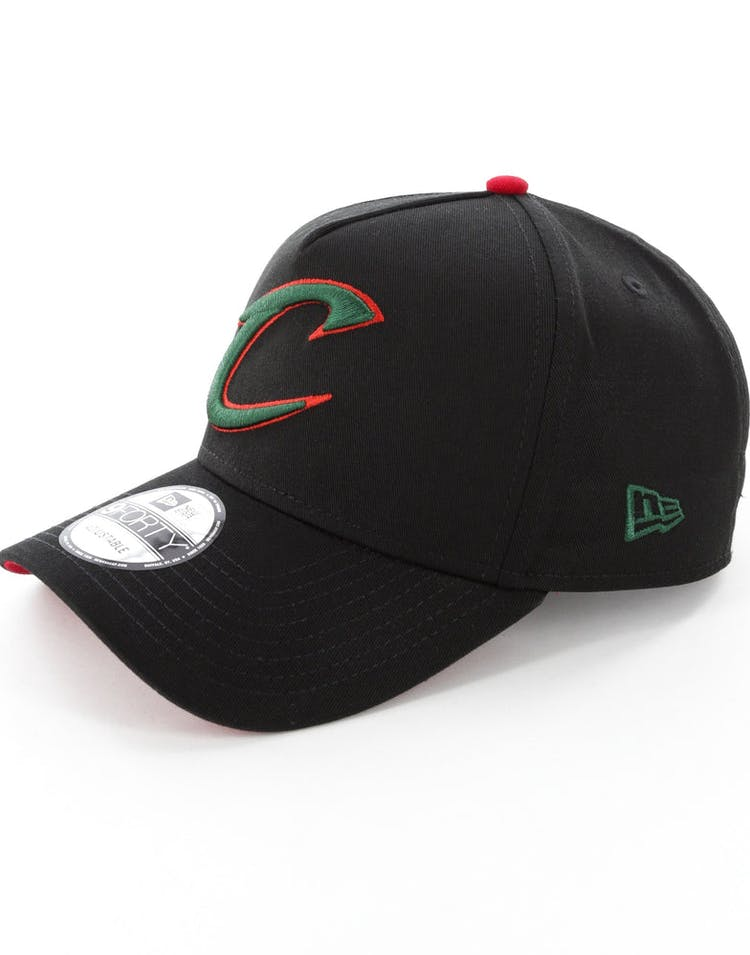 New Era Cleveland Cavaliers 9FORTY A-Frame Snapback Black/Green/Red