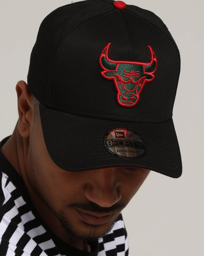 New Era Chicago Bulls 9FORTY A-Frame Snapback Black/Green/Red