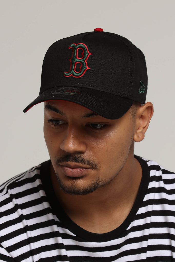 9e1cc0acb70 where can i buy new era boston red sox 9forty a frame snapback black green  red