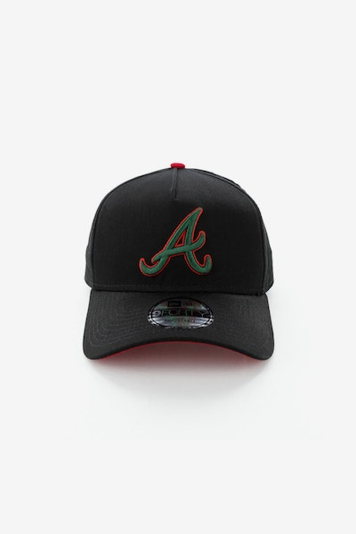 New Era Atlanta Braves 940 A-Frame Snapback Black/Green/Red