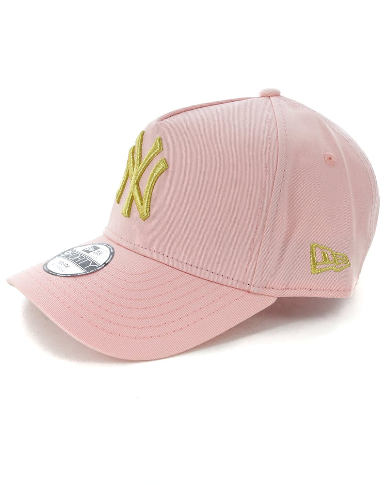 New Era Youth New York Yankees 9FORTY A-Frame Strapback Blush/Gold